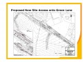 Proposed new site access onto Green Lane